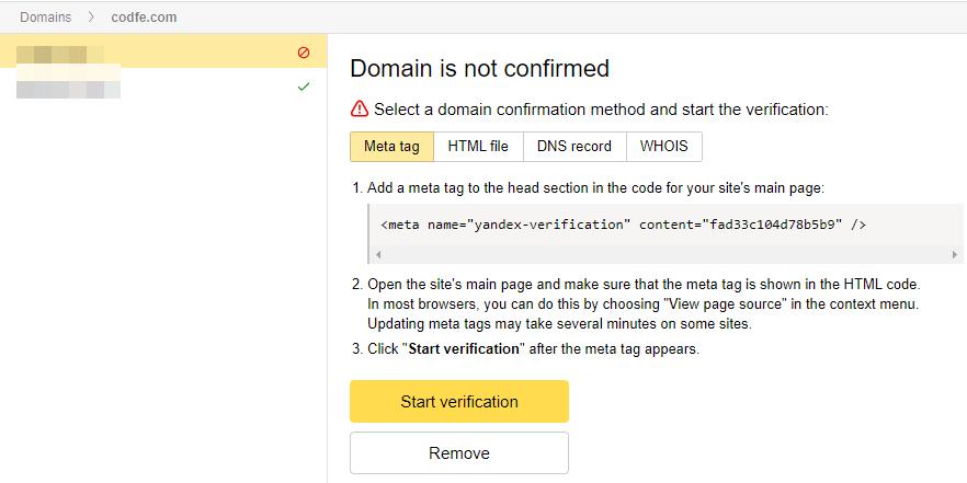 4 cách xác thực domain khi đăng ký email tên miền miễn phí Yandex