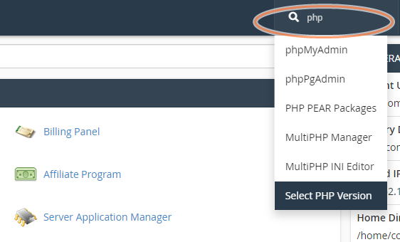 tang dung luong upload file su dung Select PHP version