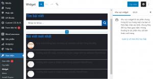 tro ve giao dien widget mat dinh trong wordpress